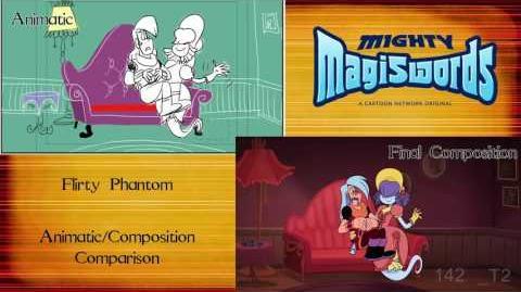Behind the Magiswords Flirty Phantom