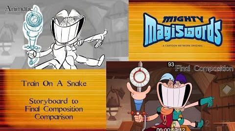 Behind the Magiswords Season 2! Train On A Snake