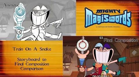 Behind the Magiswords Season 2! Train On A Snake