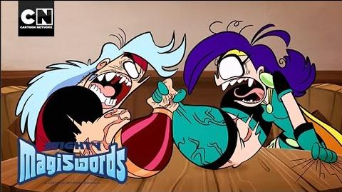 Mighty Magiswords Arm Wrestling Cartoon Network