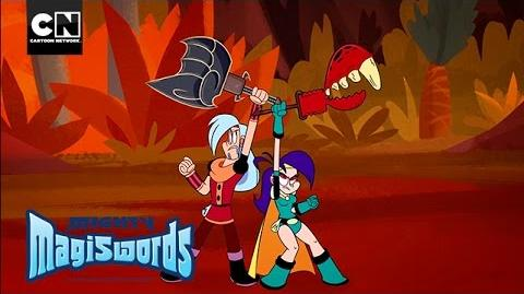 Mighty Magiswords Dino Battle! Cartoon Network