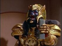 American footage of Goldar holding their American version of the Green Candle