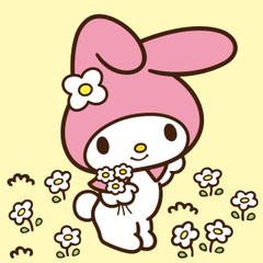 bfd4c701c My Melody (マイメロディ, Mai Merodī), frequently known for short as My Melo (マイメロ  Mai Mero), Hello Kitty's best friend, is a white rabbit from the ...