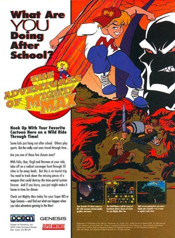 File:Adventures of Mighty Max video game print ad NickMag dec jan 1995.jpg
