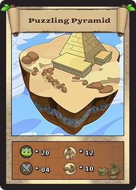 Puzzling pyramid card