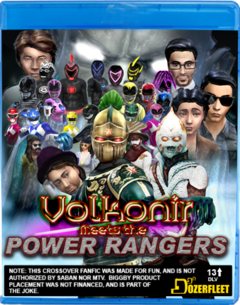Volkonir Meets the Power Rangers Mock Blu-Ray