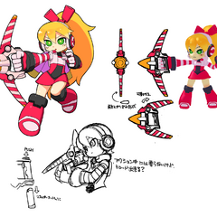 Concept art of her weapon final design