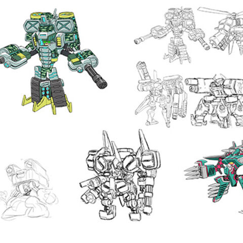 Early concept art of Mighty No. 5