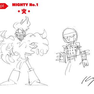 Inafune's original character design sketch.