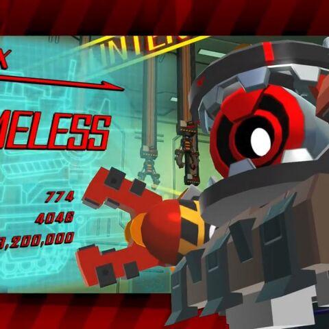 Boss intro screenshot for Nameless.