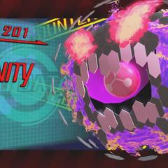 Boss intro screenshot of Trinity Cloud