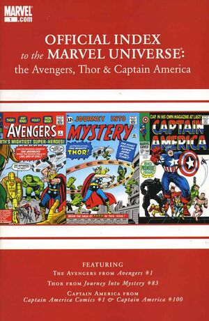 Official Index to the Marvel Universe Vol 2 1