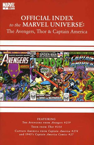 Official Index to the Marvel Universe Vol 2 7