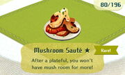 Mushroom Saute 1star