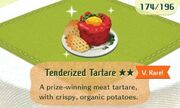 Tenderized tartare very rare
