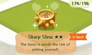 Sharp stew very rare