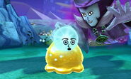 Dark Lord placing Sassy Child's face on Slime