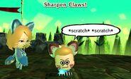 Sharpen claws