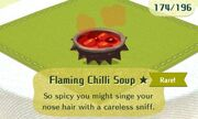Flaming chilli soup rare
