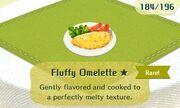 Fluffy omelette rare