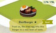 Beefburger rare