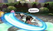Spin slash