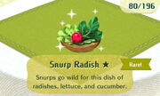 Snurp Radish 1star