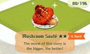 Mushroom Saute 2star