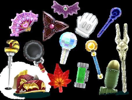 Miitopia Weapons