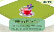 Bitingly Bitter Tea
