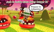 Stubborn Mii inside Extra Spicy Burger