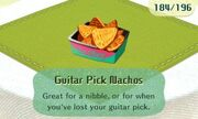 Guitar pick nachos