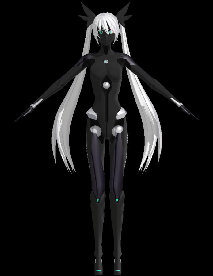 Miku Hatsune Carbon Black (Kuroyu) | MikuMikuDance Wiki