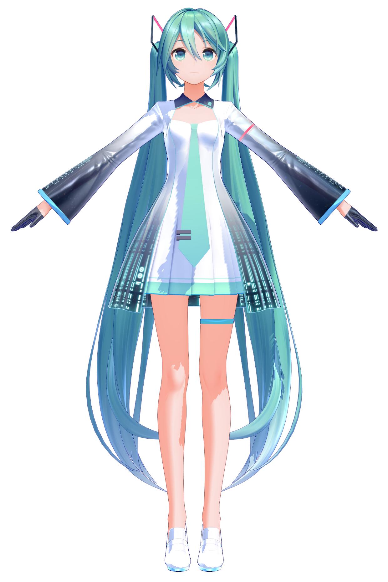 Miku Hatsune 10th anniversary Model (YYB) | MikuMikuDance