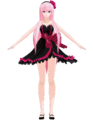 Luka dress black by hzeo.png