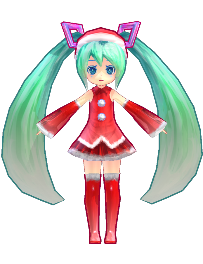 Image - Miku low poly christmas by ginjishi.png | MikuMikuDance ...