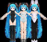 Miku 2012 models B, C & D by Mashi