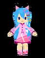 Miku Pijamas Milo style by Tawashi.png