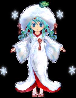 Miku Low Poly Snow 2013 by Ginjishi