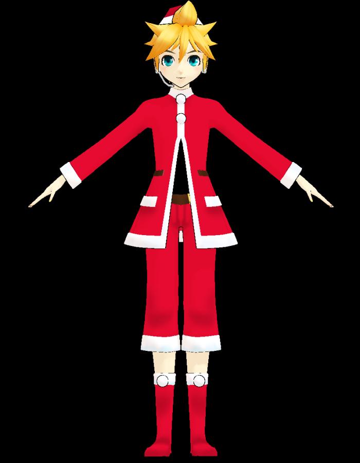 Serien Len image len santa costume by uri png mikumikudance wiki fandom