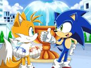 Sonic X Tails and Sonic Got a Two Chaos Emeralds