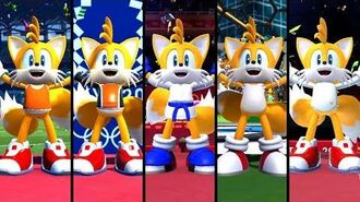 Mario & Sonic at the Olympic Games Tokyo 2020 - All Tails Outfits