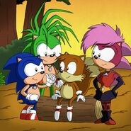 SU Sonic Manic and Sonia Meet Tails