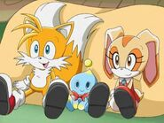 Sonic X Tails Cheese and Cream Is Very Happy Each Other