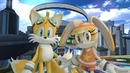 Sonic Free Riders Tails and Cream Wallpapers
