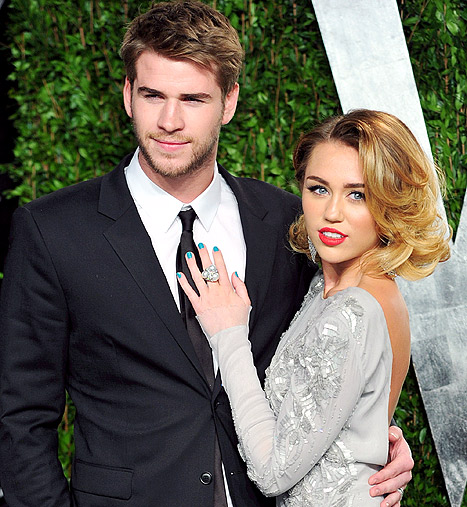 How long have miley and liam been dating