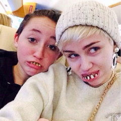 Noah with Miley.