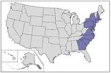 Map of the Thirteen Colonies