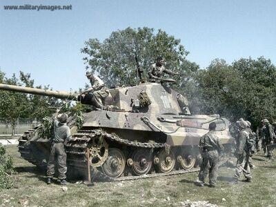 Pz6b TigerII Cam up reenact