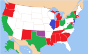 Map of States with State Defense Forces